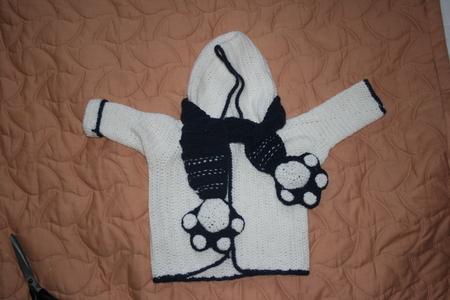 Вязание крючком - вот такая кофточка и шарфик
