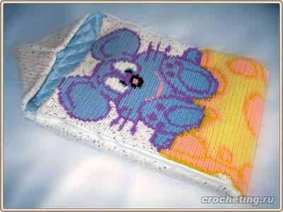 схему вязания конверта,