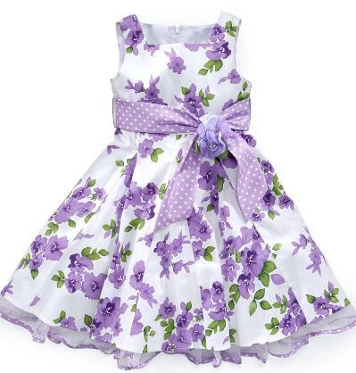 Dingunafan Платья для девочки из легкой шелковой.