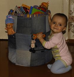 Для игрушек корзина своими руками
