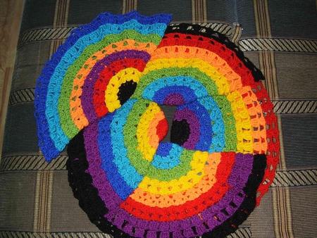 накидка крючком на табуретки - Выкройки одежды для детей и взрослых.