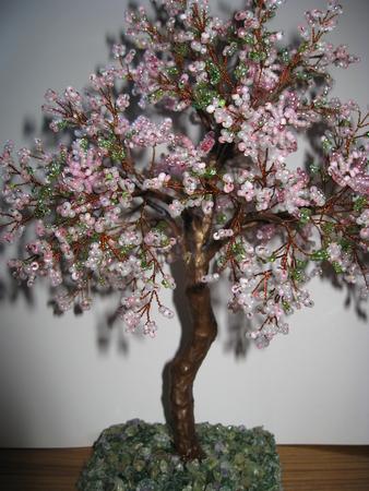 Делаем из бисера: Дерево Из Бисера Яблоня - Яблоня Из Бисера Мастер Класс ФОТО #7.