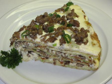 Кабачковый пирог с фаршем