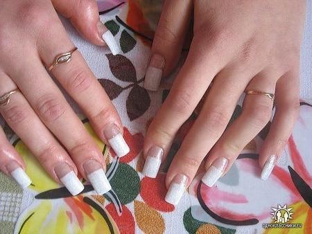 Наращивание ногтей ужасное фото
