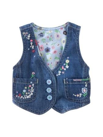 Сшить жилетку для девочки из джинсов своими руками