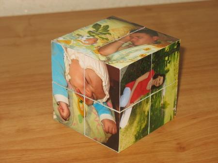 Сделать кубики с фото