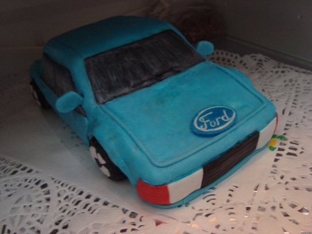 Торты на заказ фото синий