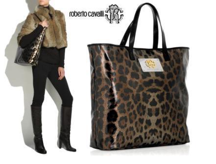 Roberto Cavalli Leopard-Print Tote - из тех сумок, которые ещё не настолько вызывающе роскошны, но уже.