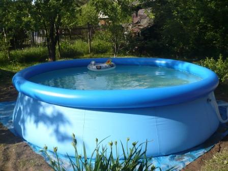 Выбор бассейна для сада