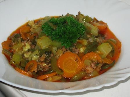 Рагу из овощей с фаршем рецепт фото