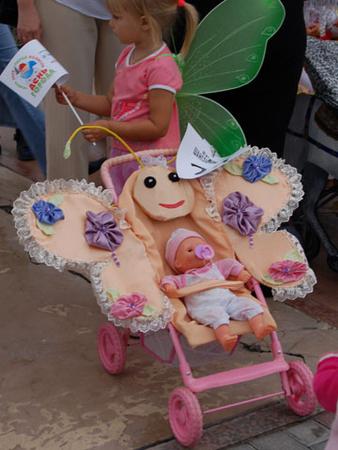 Украсить коляску для девочки своими руками