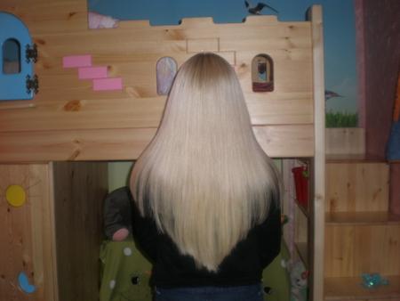 Стрижка каскадом нарощенных волос