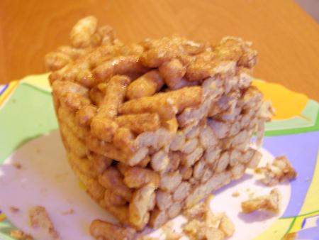 Торт кукурузные палочки с ирисками с фото