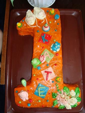 Торт Единичка для маленьких принцесс рецепт с фото 38