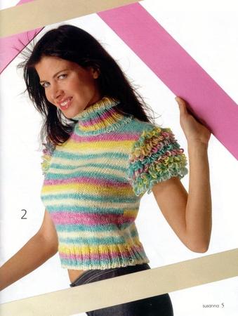 Разноцветное вязание на спицах для женщин