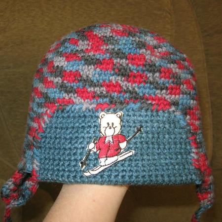 Вязание крючком - Шарфик шапочка и пинетки - шапочка ромашка схема.