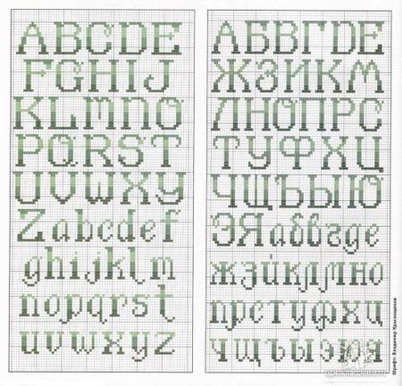 буквы для вышивки Русские