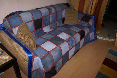 Плед на старый диван своими руками 99