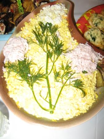 Мимоза из горбуши без картофеля рецепт