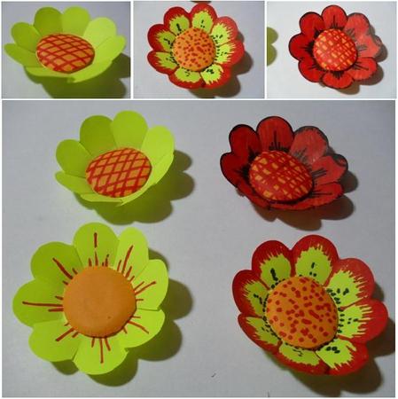 Детские поделки объемные цветы