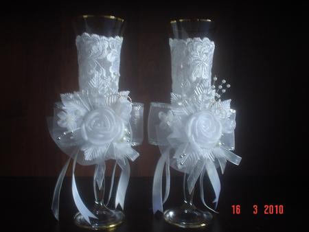 Wedding Saloon :: фужеры на свадьбу своими руками - Свадебные