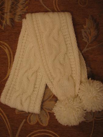 Вязание спицами шарфик для девочки для начинающих