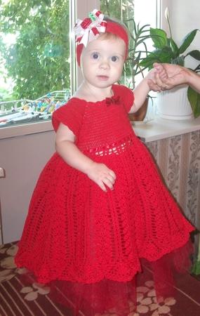Как вязать платье для принцессы