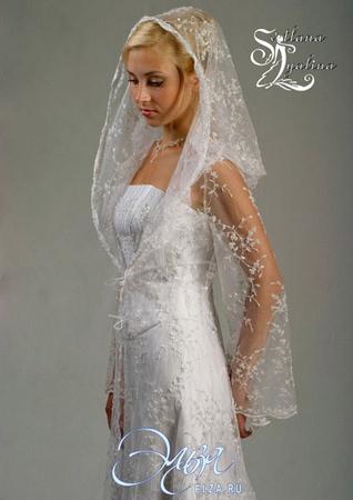 Блог из китая: Выкройка Венчальной Накидки Из Фатина