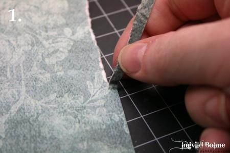 Как сделать порванные край на бумаге