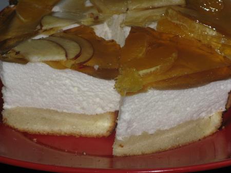 Торж желейный с бисквитом