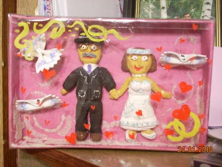 Подарок на свадьбу бабушке и дедушке своими руками на
