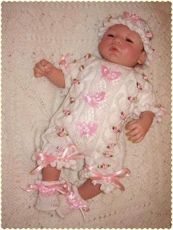 Вязание крючком для новорожденных со схемами.