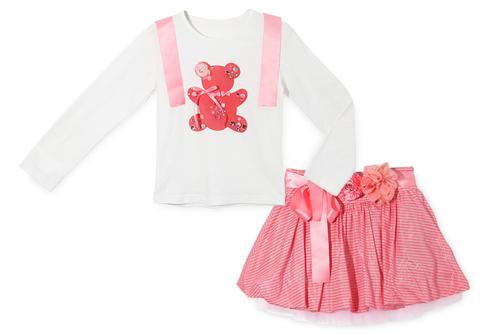 Кофточка (на мишке стразы) и юбка (р-ры: 2,3,4,5,6 лет) цена 1450р.