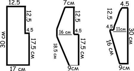 Меховое болеро для девочки 86-92 сшить выкройка 7