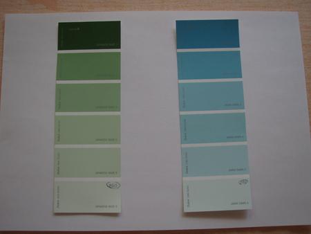 два цвета обоев:
