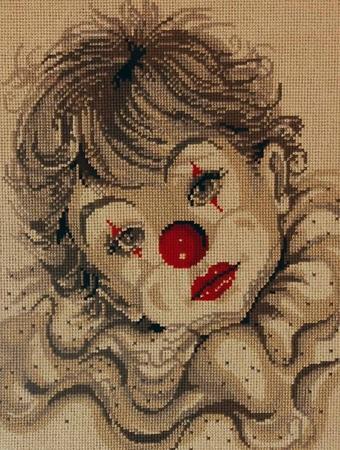 Вышивка крестом схемы клоунов