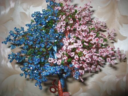плетение бисером дерево любви.
