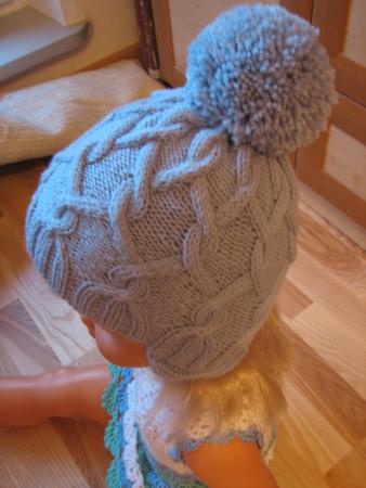 Как связать шапку с аранами
