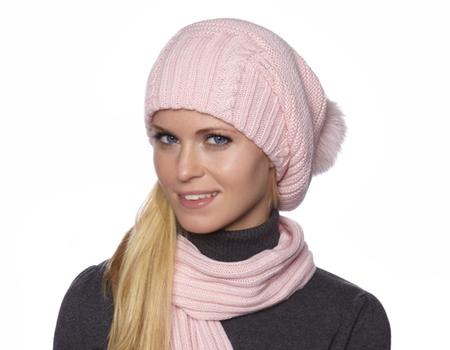 Модные вязаные шапки 2014