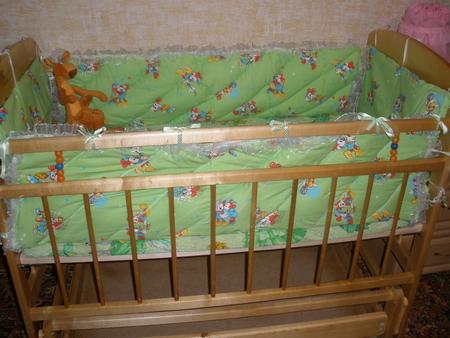 Выкройка бортиков для кроватки