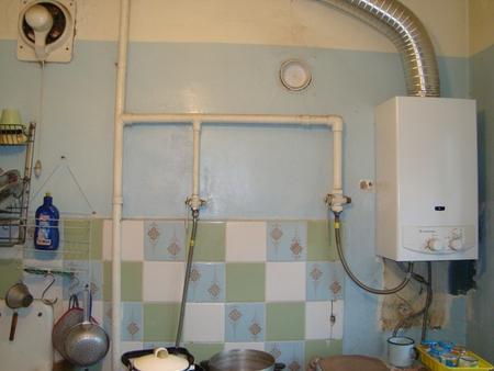 ремонт кухни в хрущевке фото с газовой колонкой