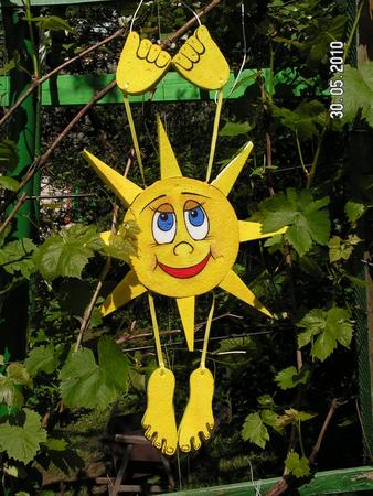 Поделки для дачи солнышко