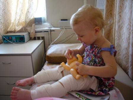 Электрофорез на ноги ребенку