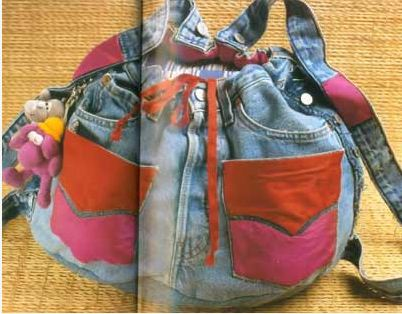 Оксана.  Как сшить рюкзак из старых джинсов.