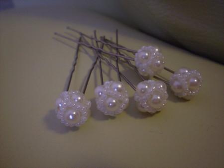 свадебные шпильки из бисера свадебные шпильки.