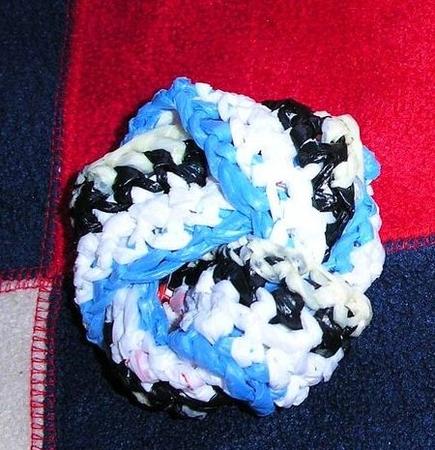 Схема вязания мочалки с именем.