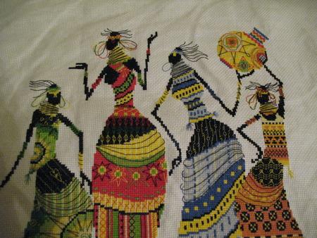 Вышивка крестом: Африканочки Подружки - Африканочки ФОТО #4.