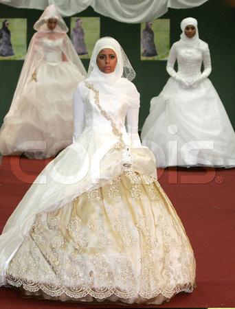 Мусульманские свадебные платья фото