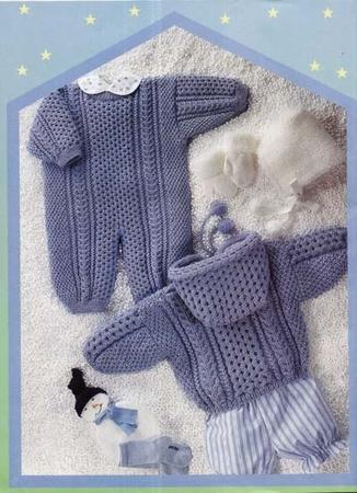Вязание наборов для новорожденных