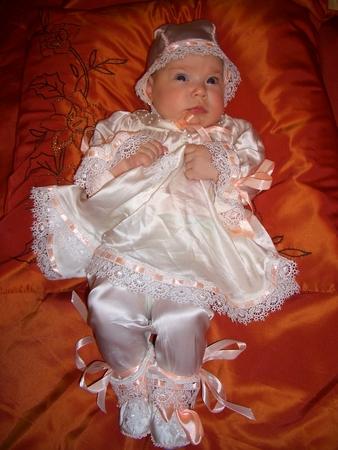 Платье для девочки на выписку своими руками 32
